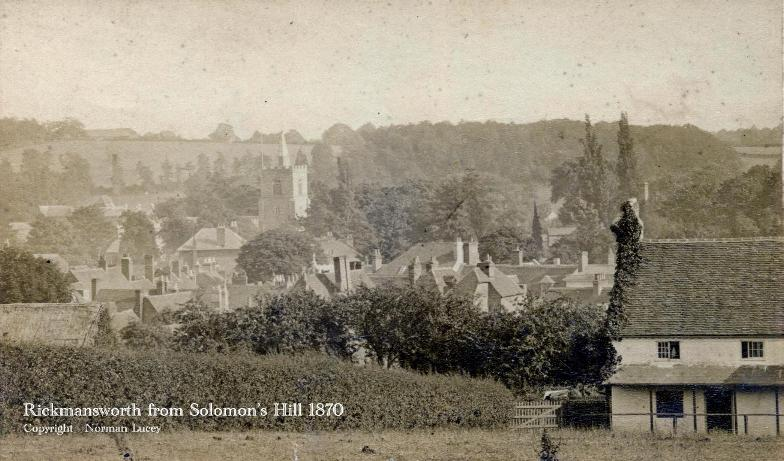 Rickmansworth from Solomons Hill 1870
