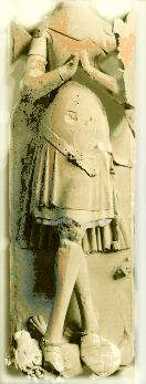 Effigy from Lesnes of Geoffrey de Lucy 1340-50